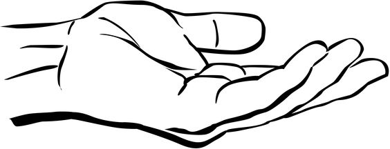 (outstretched hand clip art)