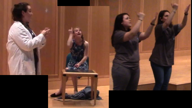 members of the SLLA lab performing at UConn's Deaf Awareness Day 2018